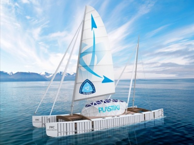 Boat made from 16,000 plastic bottles